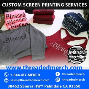 High End Clothing Line Water Based Ink Screen Printing